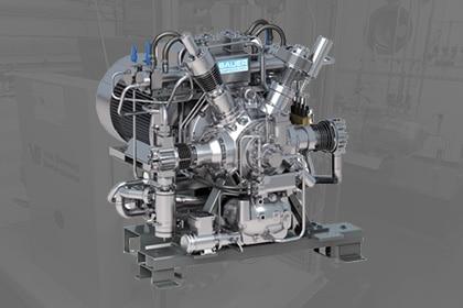 BAEUR GIB-26 Hoge druk zuigercompressor Van Elewout Kompressoren