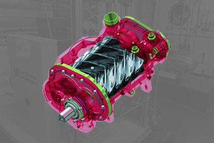Schroefcompressor Schroef compressor
