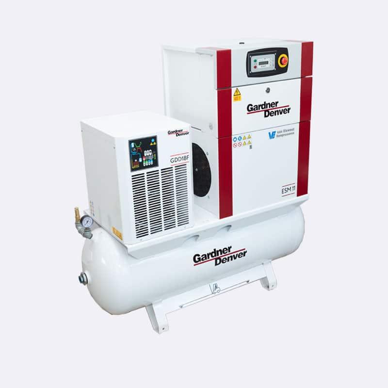Gardner Denver Schroefcompressor ESM07 - ESM11 Van Elewout Kompressoren