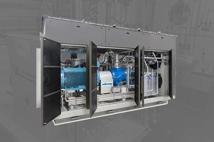 Adicomp biogas compressor Gastechniek Van Elewout Kompressoren