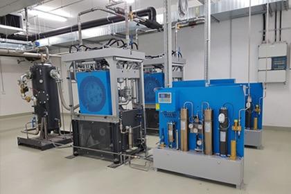 Helium compressor Gastechniek Van Elewout Kompressoren