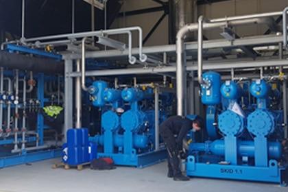 Olievrije gascompressor Gastechniek Van Elewout Kompressoren