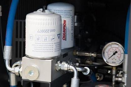 Onderhoud Champion Schroefcompressor Installatie Gastechniek Van Elewout Kompressoren