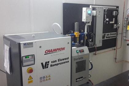 Stikstofgenerator Installatie Gastechniek Van Elewout Kompressoren