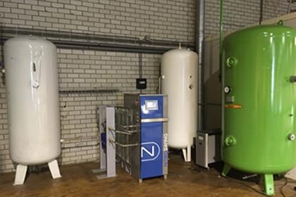 Stikstofinstallatie Stikstof Cilinder Gastechniek Van Elewout Kompressoren