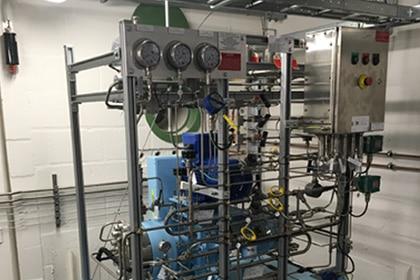 Waterstof compressor Univesiteit Twente Gastechniek Van Elewout Kompressoren