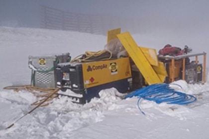 CompAir Mobiele Compressoren Sneeuw Persluchttechniek Van Elewout Kompressoren