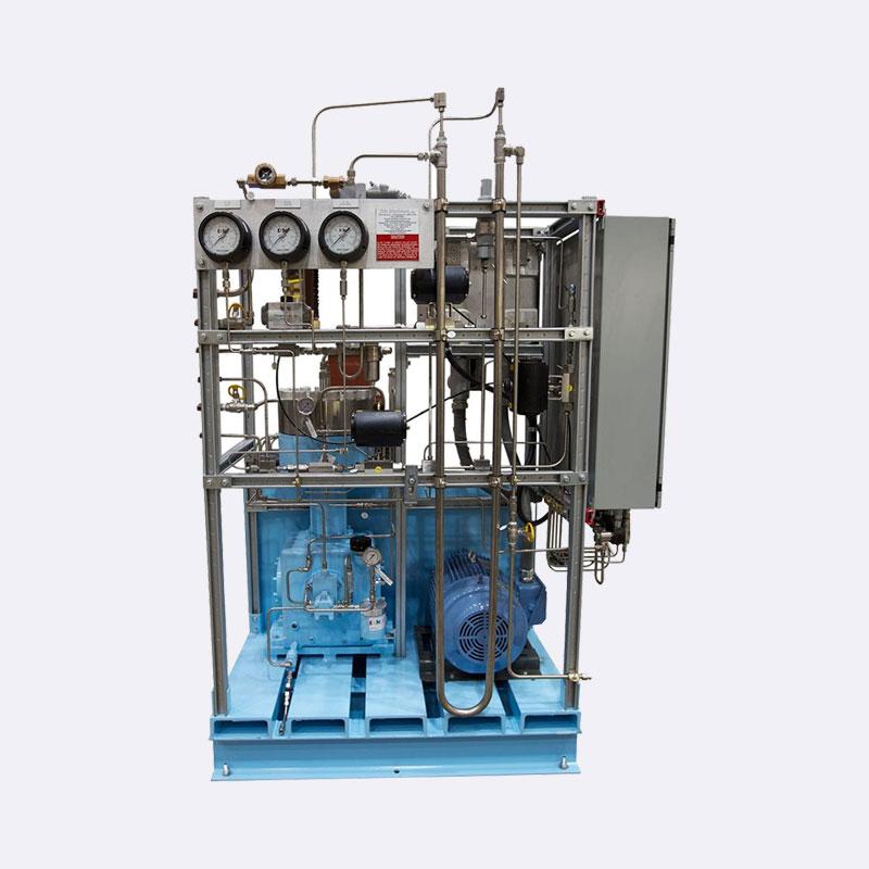 Membraan compressor eentraps speciaal gas compressor Van Elewout Kompressoren
