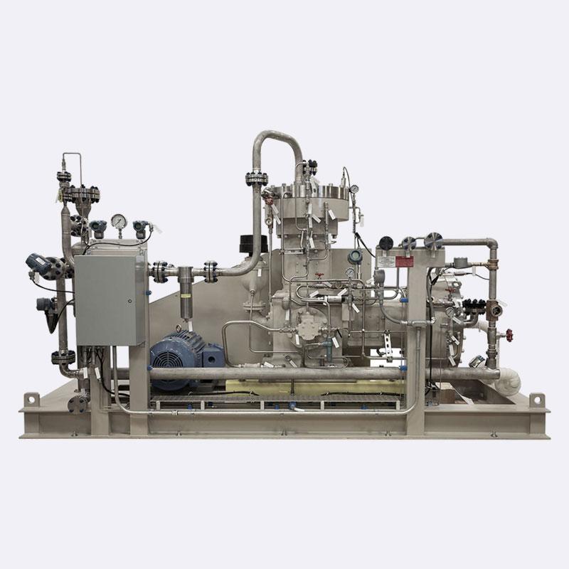 Membraan compressor tweetraps membraan TFE gas compressor Van Elewout Kompressoren