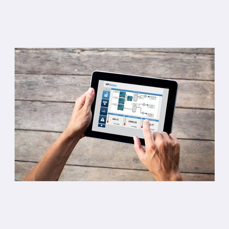 Onderhoud Persluchtmeting VP Vision App Van Elewout Kompressoren