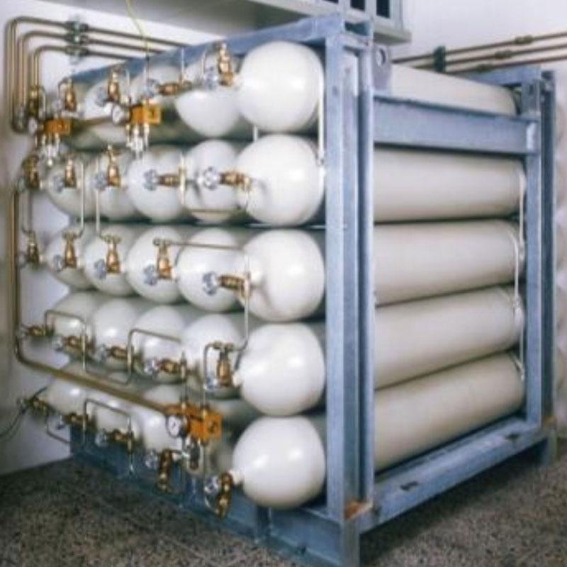 Stikstof cilinder Bauer HD CNG storage systeem Van Elewout Kompressoren