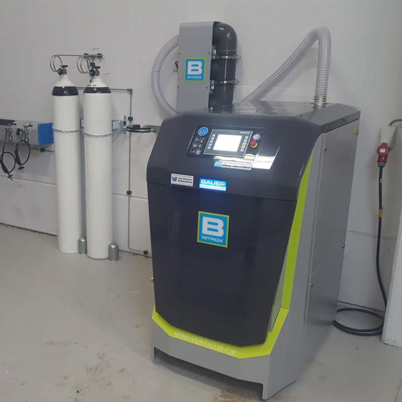 Stikstof cilinder Bauer nitrox compressor Van Elewout Kompressoren