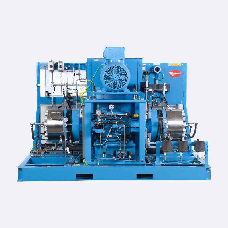 Waterstof compressor Tweetraps Mehrer membraan compressor Van Elewout Kompressoren